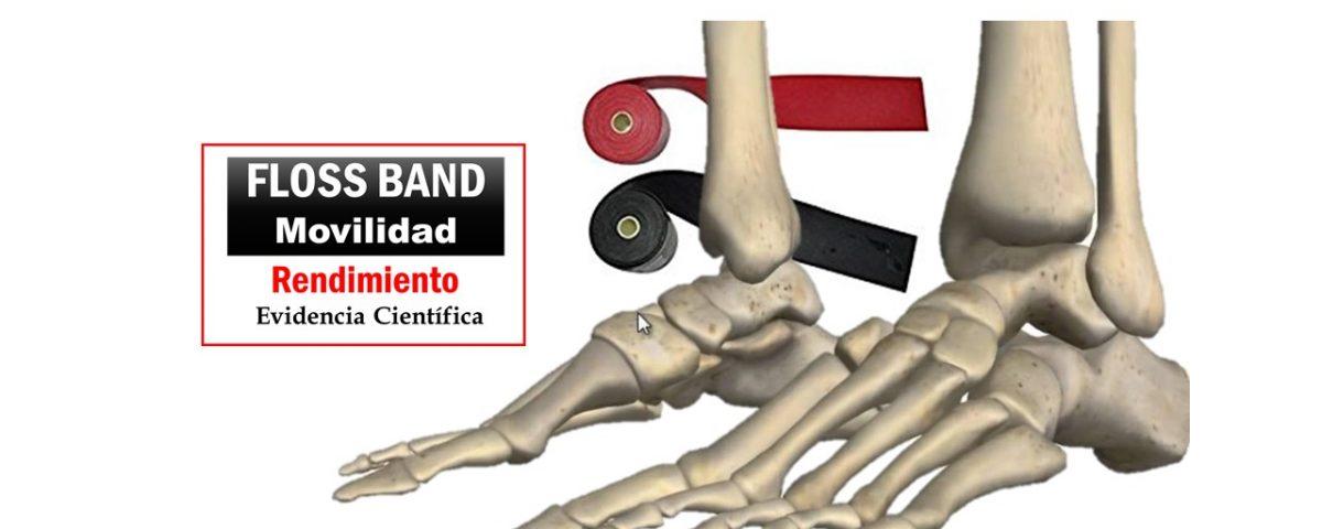 Floss band flexión plantar y flexión dorsal del pie
