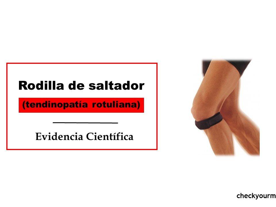 Rodilla de saltador tendinitis rotuliana