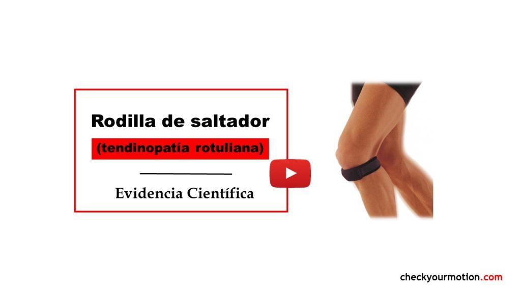 Rodilla de saltador tendinitis tendiopatia rotuliana