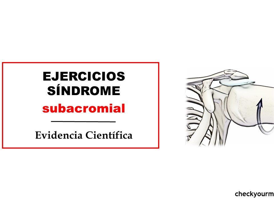 EJERCICIOS SÍNDROME subacromial hombro doloroso