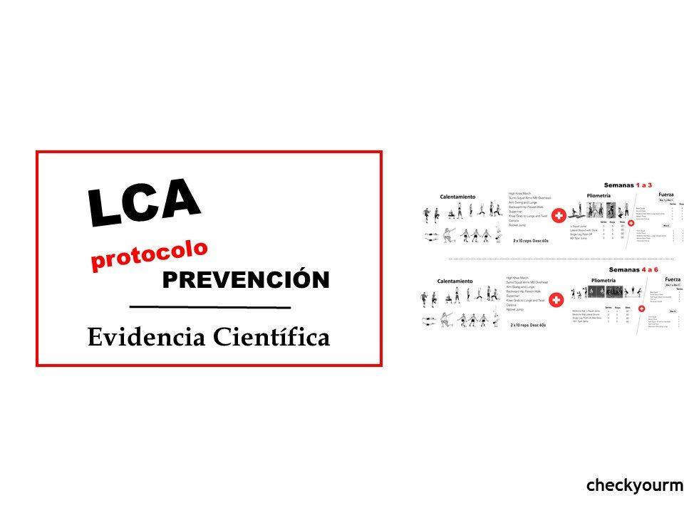 Protocolo prevención ligamento mujeres