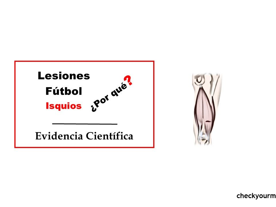 Lesiones isquios futbol