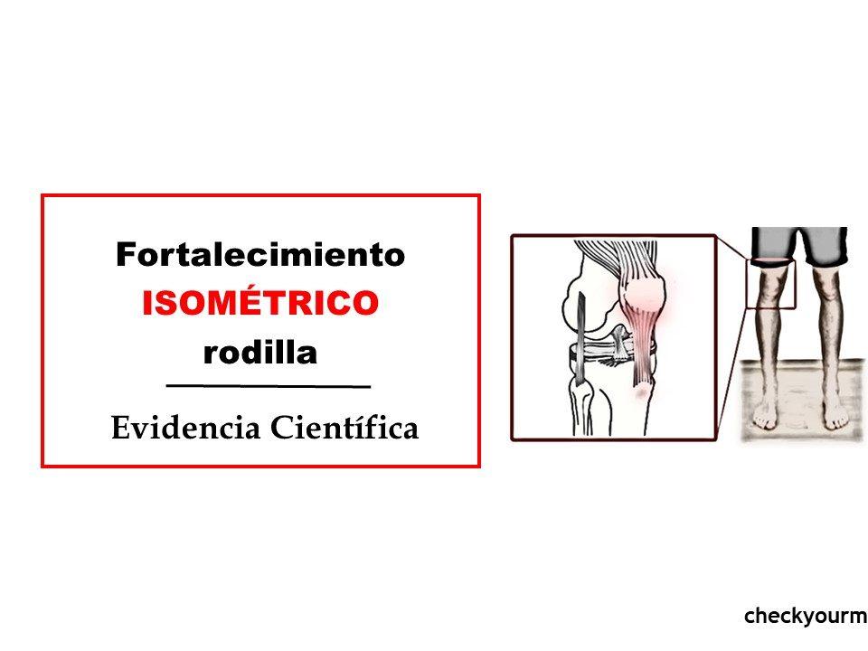 fortalecimiento isométrico de rodilla