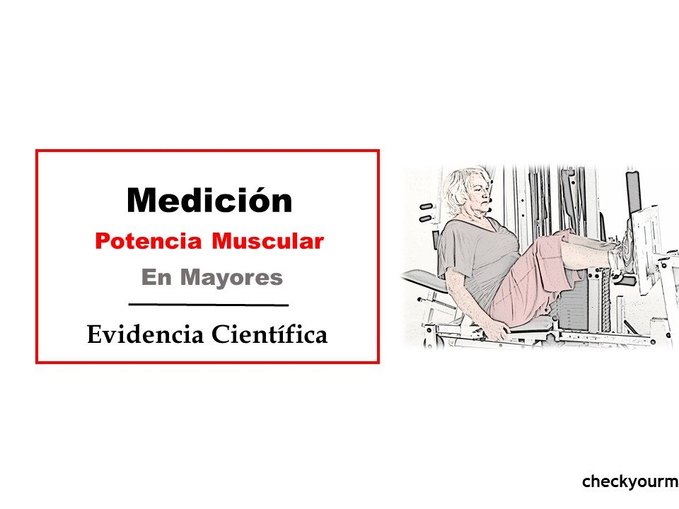 escalon medición potencia muscular en mayores