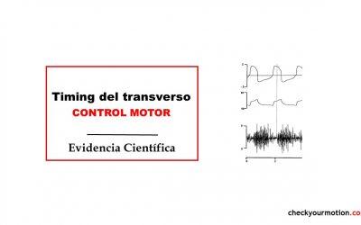 Timing del transverso: ejercicio control motor