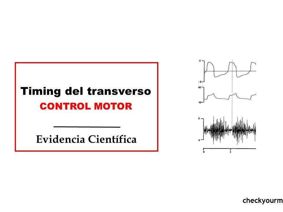 Timing del transverso ejercicio control motor