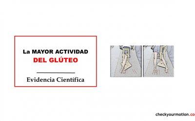 Mayor actividad del glúteo