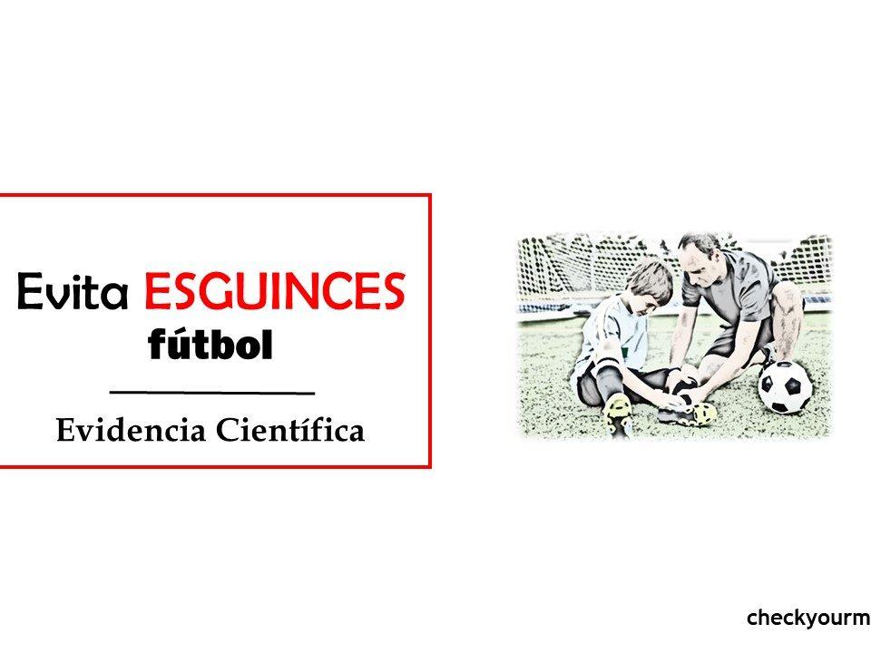 evita los esguinces en fútbol