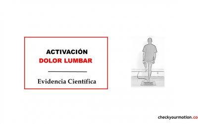 Dolor lumbar y activación muscular: monopodal