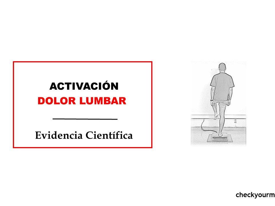 Activación muscular dolor lumbar ejercicio