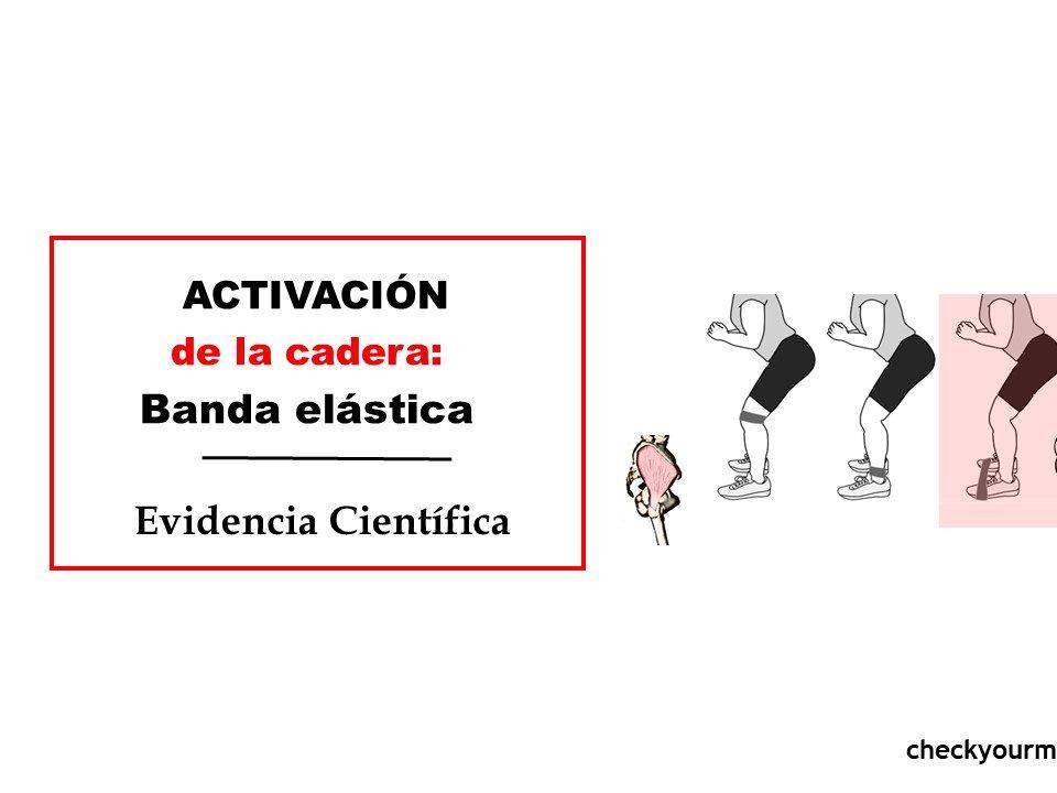 activación de la cadera bandas elásticas