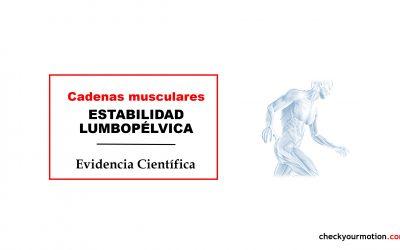 ESTABILIDAD LUMBOPÉLVICA: Cadenas musculares