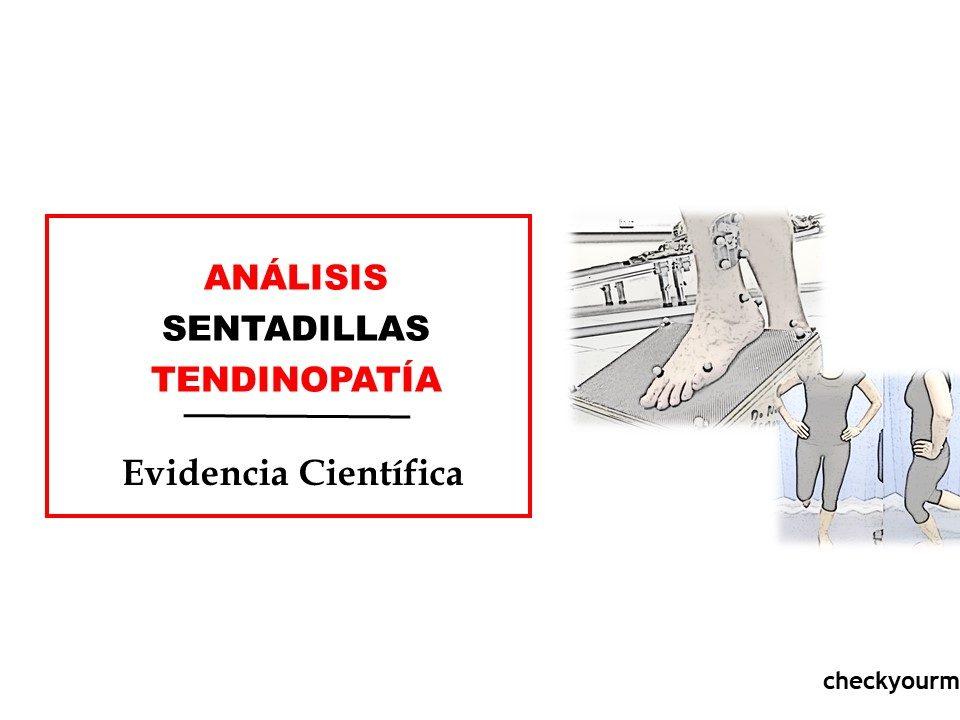 sentadillas monopodales TENDINOPATIA