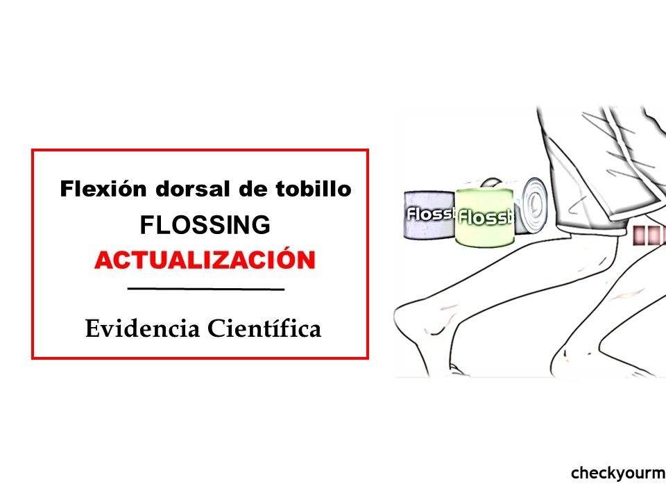 Flexión dorsal tobillo flossing