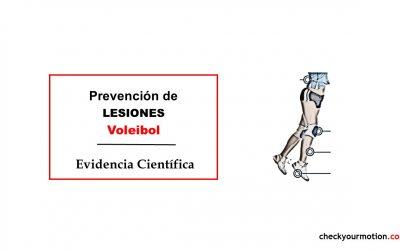 Prevención de lesiones en Voleibol