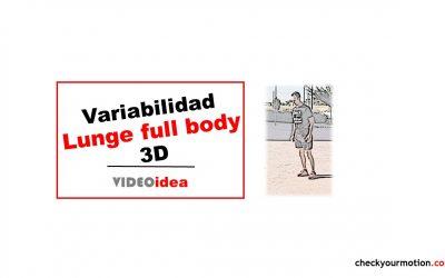 Variabilidad del movimiento LUNGE 3D