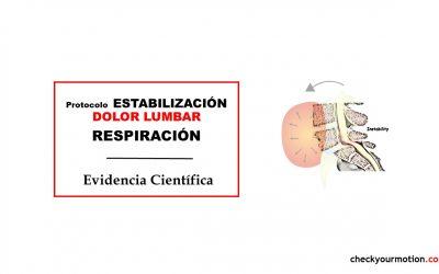 Protocolo de estabilización dolor lumbar respiración