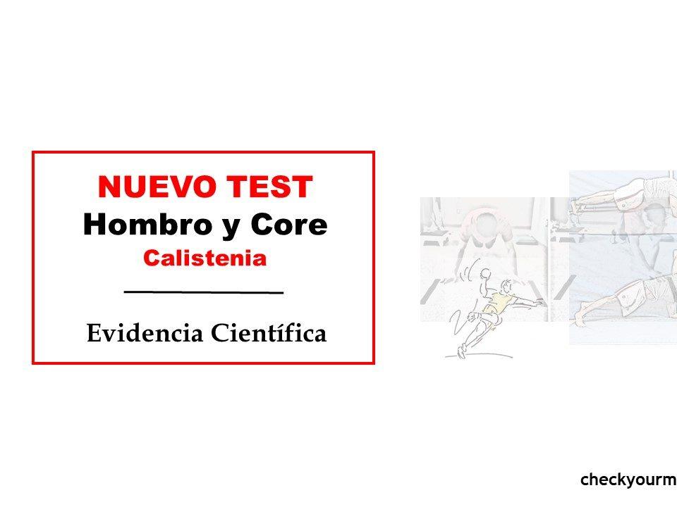 Calistenia prueba de hombro y core nuevo test