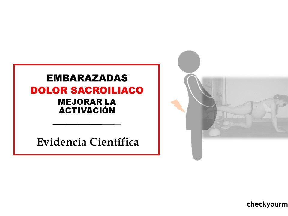 EMBARAZADAS DOLOR SACROILIACO MEJORAR LA ACTIVACION