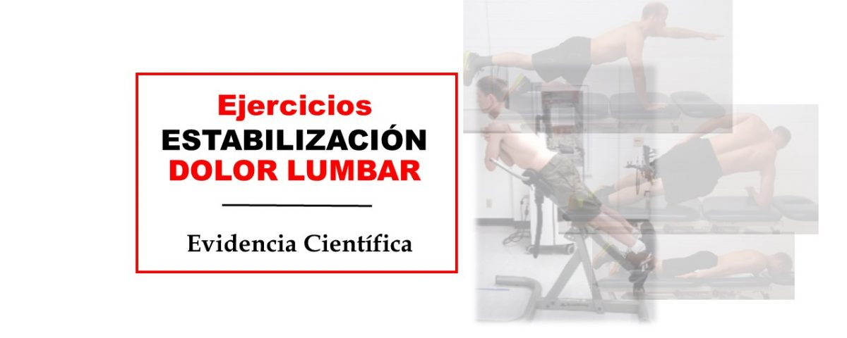 Ejercicios estabilización dolor lumbar
