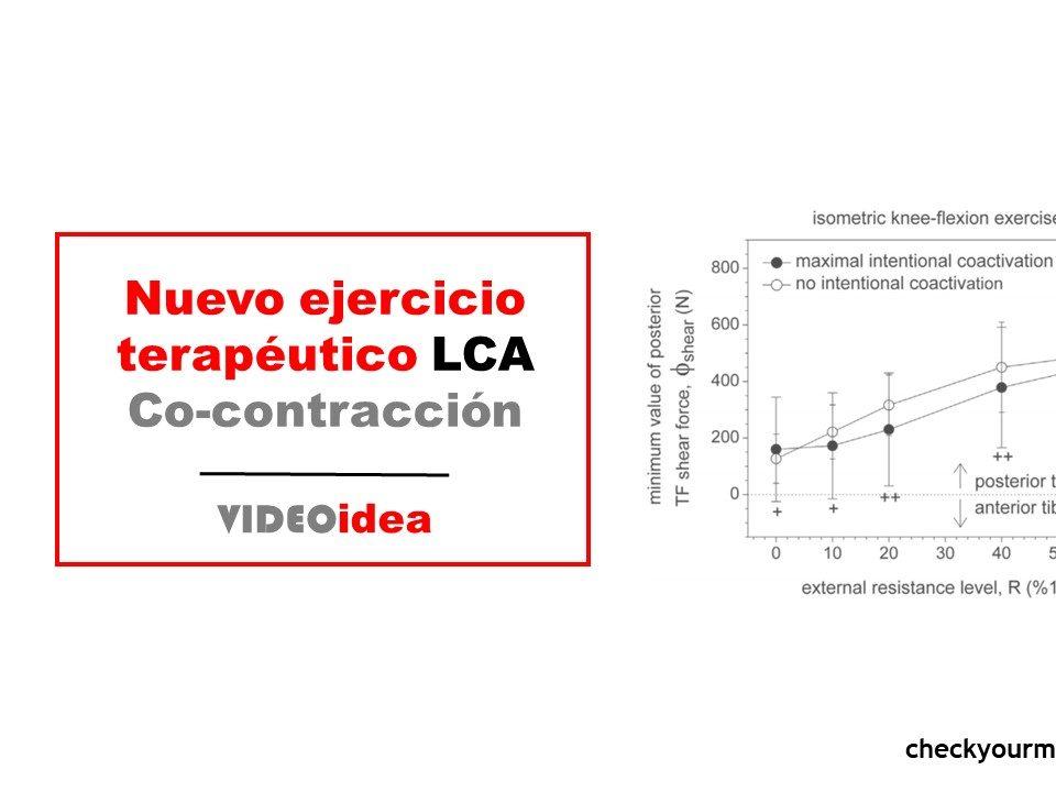 Nuevo ejercicio terapéutico rodilla LCA