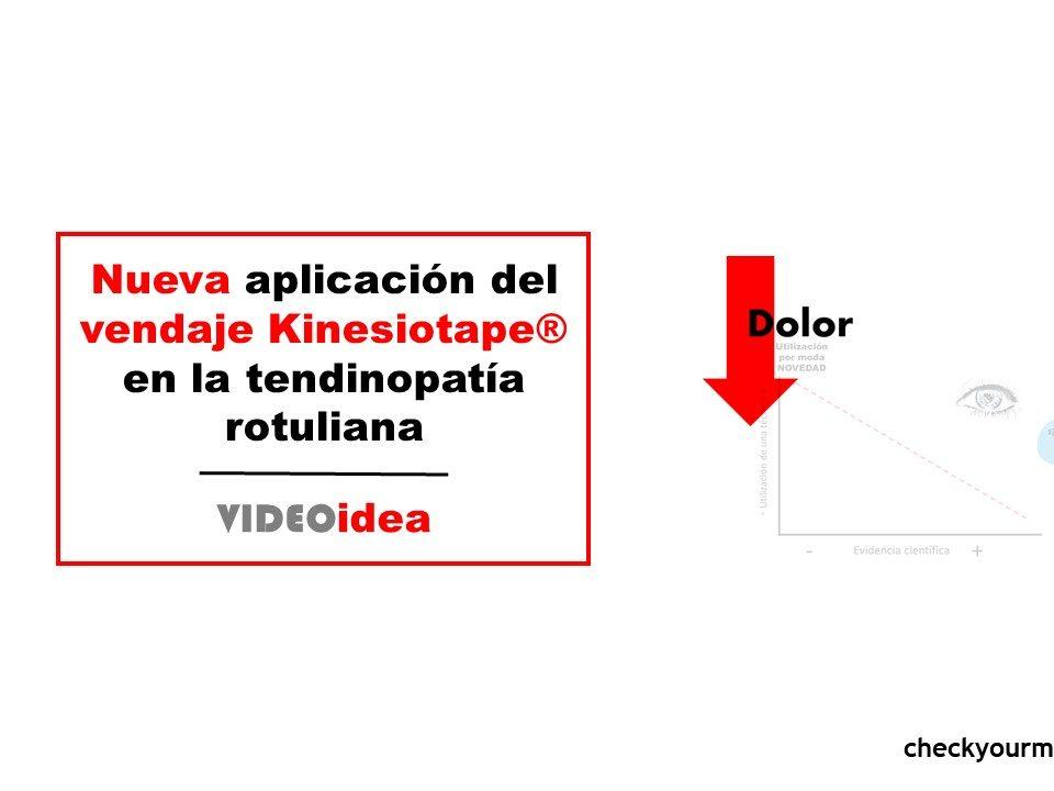 Nueva aplicación del vendaje Kinesiotape® en la tendinopatía rotuliana