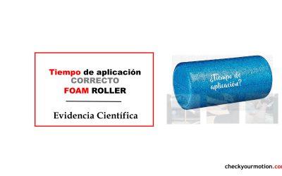 Tiempo de aplicación adecuado del rodillo de espuma foam roller