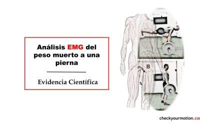 Análisis EMG del peso muerto a una pierna