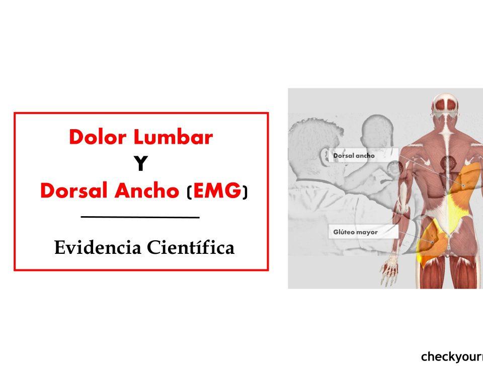 Dolor lumbar y dorsal ancho